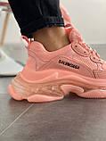 Женские кроссовки Balenciaga Triple S Pink, фото 7