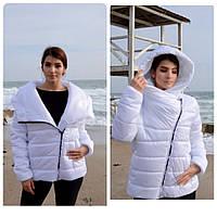 Куртка-парка одеяло короткая белая арт. M523