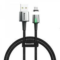 Магнитный кабель для зарядки Baseus Zinc Magnetic Cable USB For Type-C 2A 2m Black