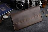 Мужское кожаное портмоне клатч mod.Nord коричневый, фото 8