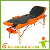 Стол для массажа RelaxLine Titan Черно/оранжевый