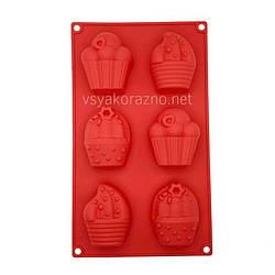 Силиконовая форма для выпечки в духовке / Силіконова форма для випічки в духовці Cake (красный)
