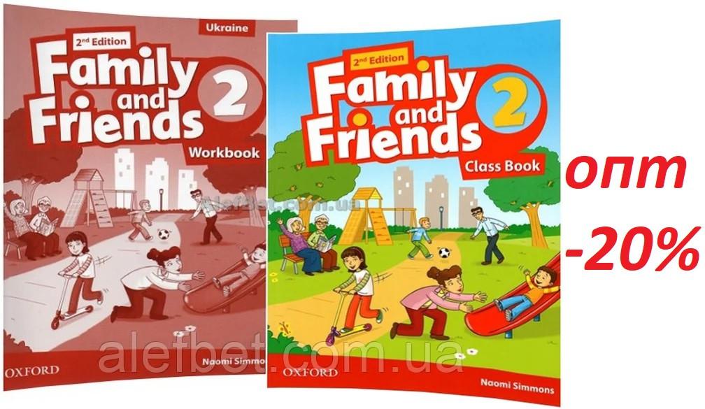 Английский язык /Family & Friends/ Class+Workbook. Учебник+Тетрадь (комплект), 2/ Oxford