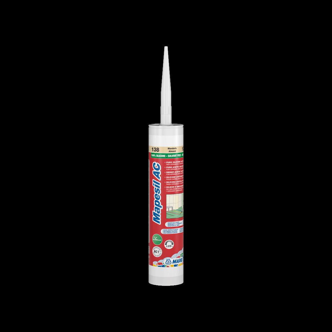 Герметик силіконовый Mapei Mapesil AC / 111 / сріблясто-сірий / 310 мл