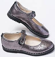 Туфли кожаные для девочки от производителя модель ДЖ025