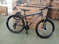 """Горный велосипед 29 дюймов Azimut Energy. Рама  21"""" Дисковые тормоза. Черно-Синий . Шимано, фото 1"""