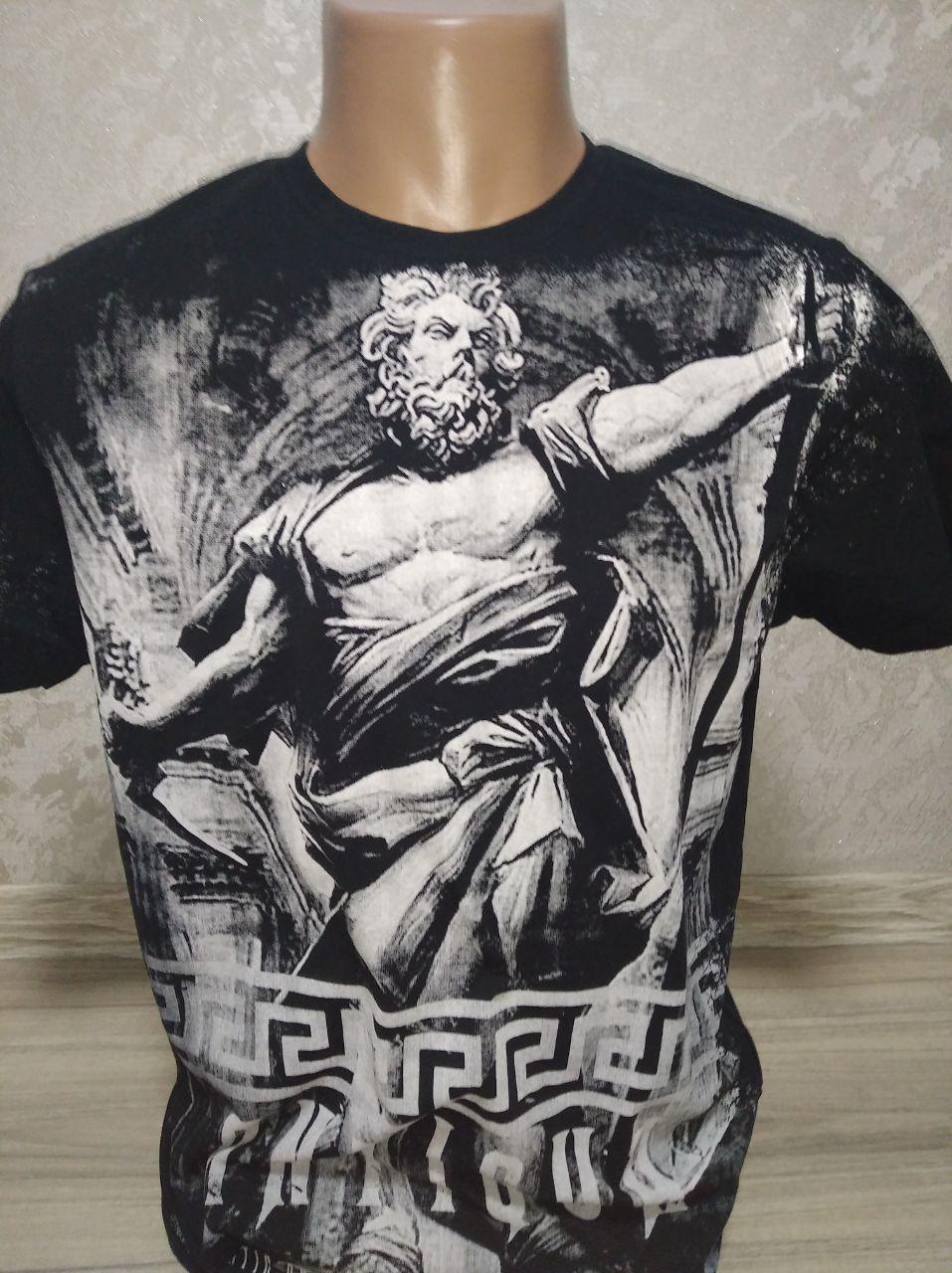 """Мужская футболка """"Antiqua"""" с Зевсом - размер XL (52)"""