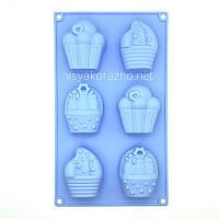 Силиконовая форма для выпечки в духовке / Силіконова форма для випічки в духовці Cake (голубой)