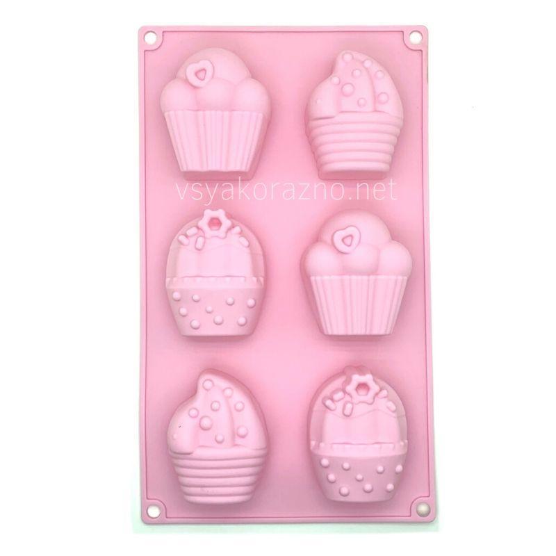 Силиконовая форма для выпечки в духовке / Силіконова форма для випічки в духовці Cake (розовый)