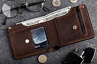 Кошелек мужской кожаный Hudson BRWN с монетницей, фото 1
