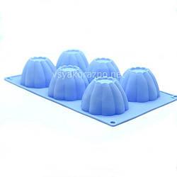 Силиконовая форма для выпечки кексов / Силіконова форма для випічки кексів (голубая)