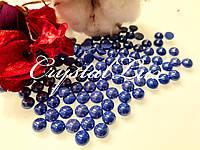 Напів-перли ss30 6.5 мм термо кераміка 50шт Sapphire, фото 1
