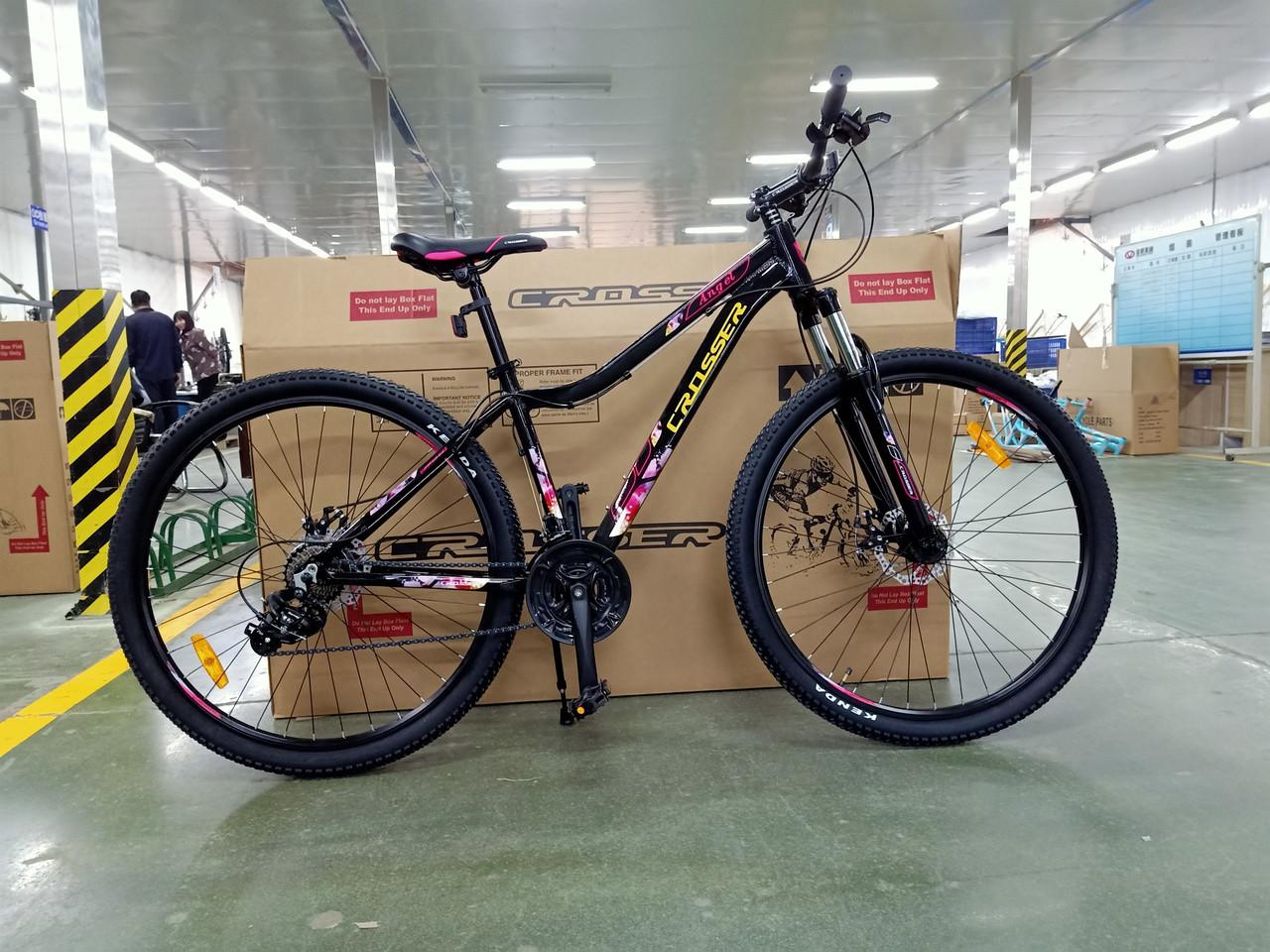 """Горный велосипед 29 дюймов Crosser Cross рама 16,5 """" BLACK"""
