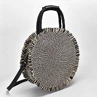 Пляжная плетенная соломенная сумка