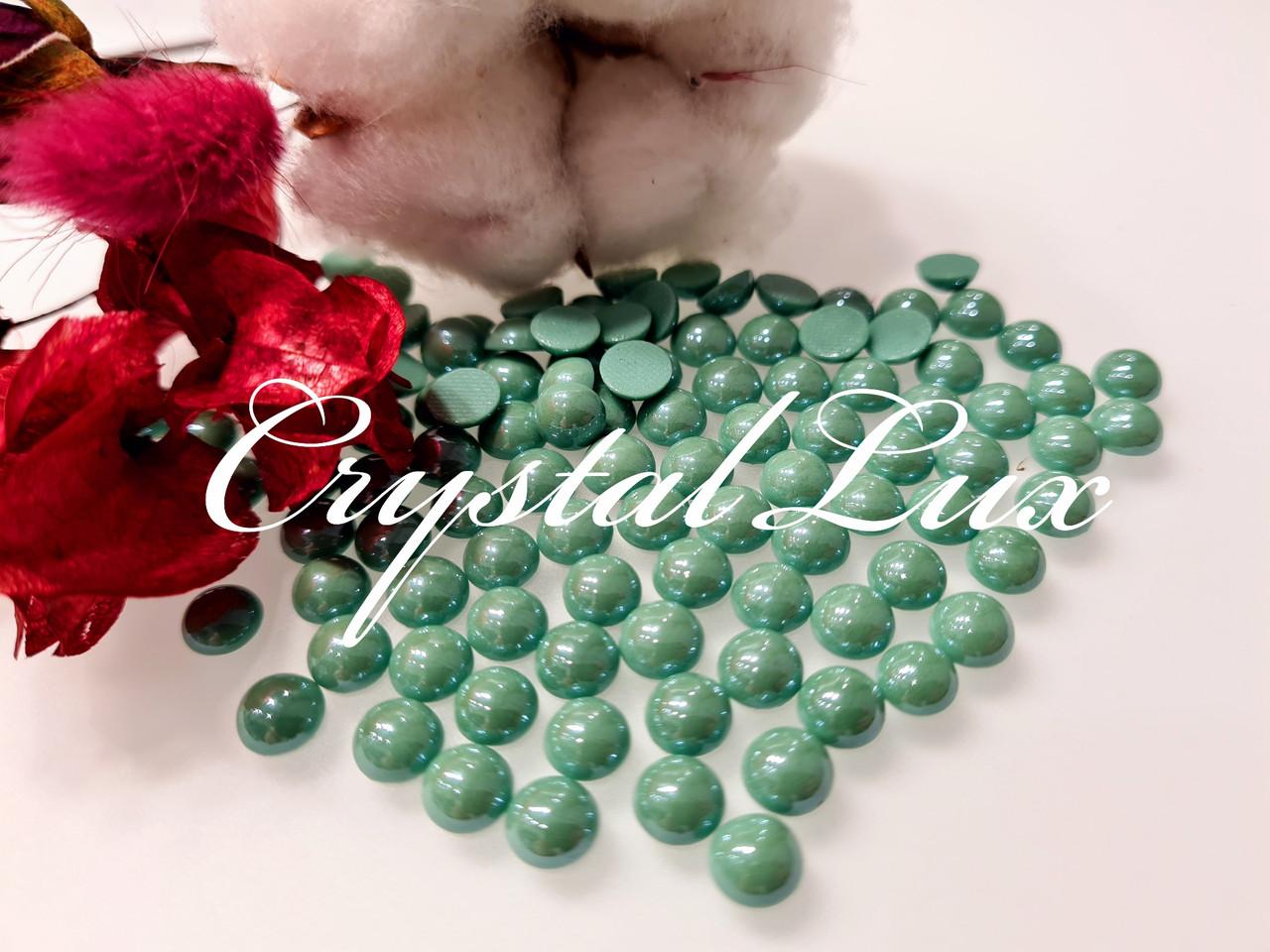 Напів-перли ss30 6,5 мм термо кераміка 50шт Azure Green