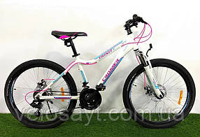"""Гірський велосипед 26 дюймів Crosser Trinity рама 17"""" WHITE"""