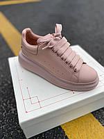 Стильны кроссовки Alexander McQueen Pink LUX QUALITY (Александр Маквин), фото 1