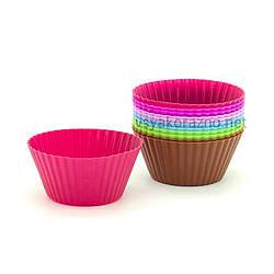 """Силиконовая форма для выпечки кексов """"Франсуа"""" - набор (12 шт. микс) / Силіконова форма для випічки кексів"""