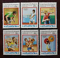 """Почтовые марки """" ATLANTA 96 """" - 6шт."""