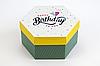 """Коробка """"Шестигранник"""" М0066-о1, """"Happy birthday"""""""