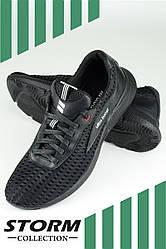 "Мужские летние кроссовки ""Ultra"" от ТМ STORM , комбинация сетки и текстиля,  р. 40,41,42,43,44,45 черные"