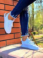 Женские кеды белые, кроссовки женские в сеточку