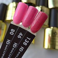 Гель лак 46 Розовый Корал Шиммер Плотное Гель-лаки  HD Hollywood