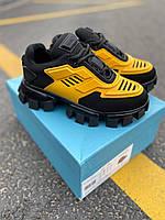 Женские кроссовки Prada CloudBust Black/Yellow, фото 1