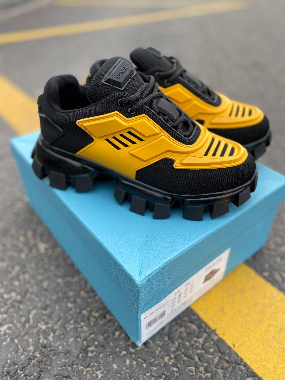Женские кроссовки Prada CloudBust Black/Yellow