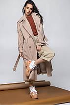 Жіночий демісезонний тренч з розрізами з боків 42-46 р, фото 3