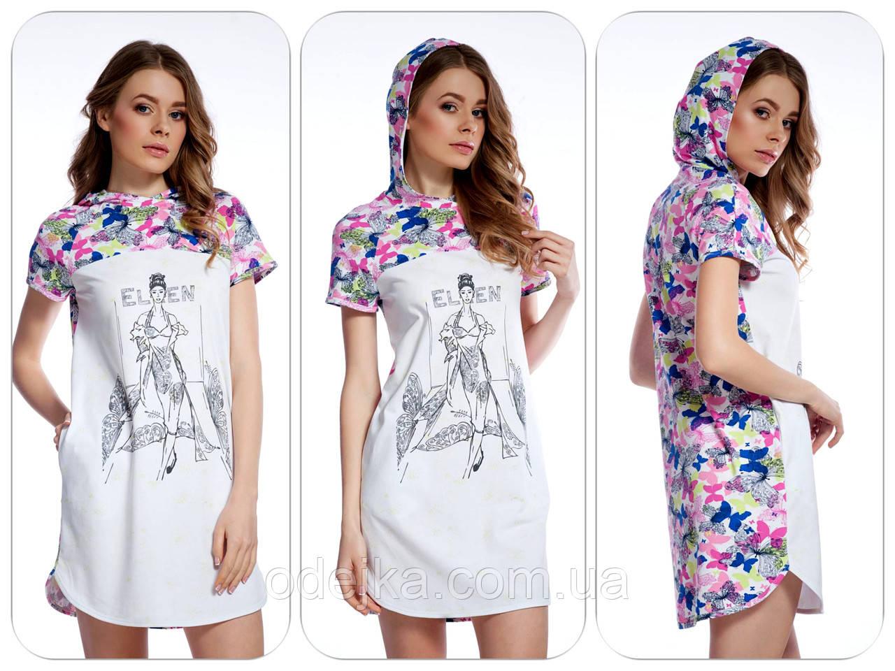 Оригінальне стильне плаття-туніка LND 027/001 з метеликами ELLEN .