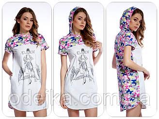 Оригинальное стильное платье-туника LND 027/001 с бабочками ELLEN .