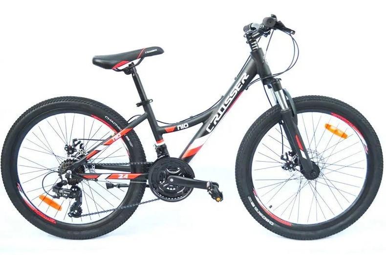"Горный велосипед 26 дюймов Crosser Nio Stels рама 14"" BLACK-RED"