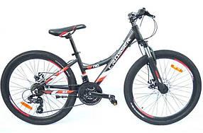 """Гірський велосипед 26 дюймів Crosser Nio Stels рама 14"""" BLACK-RED"""
