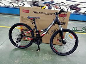 """Горный велосипед 26 дюймов Crosser Nio Stels рама 14"""" BLACK-RED, фото 2"""