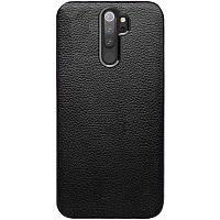 Xiaomi Redmi Note 8 Pro Черный кожаный чехол смартфона ксяоми редми нот 8 про