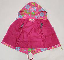 Детская куртка ветровка для девочки светло розовая цветы 4-5 лет, фото 2