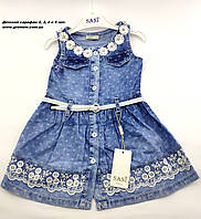 Детский сарафан 3 года для девочки Турция джинсовый летний на девочку, фото 1