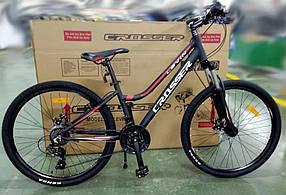 """Гірський велосипед 26 дюймів Crosser levin рама 14"""" BLACK-RED"""