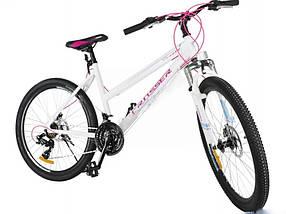 """Гірський велосипед 26 дюймів Crosser Infinity рама 18"""" WHITE"""