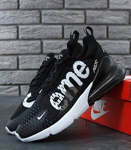 Мужские кроссовки Nike Air Max 270 SUPREME (найк аир макс 270 черные)