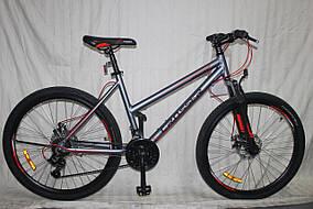 """Гірський велосипед 26 дюймів Crosser Infinity рама 18"""" GREY-RED"""