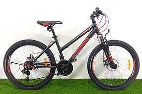 """Гірський велосипед 26 дюймів Crosser Infinity рама 18"""" BLACK"""