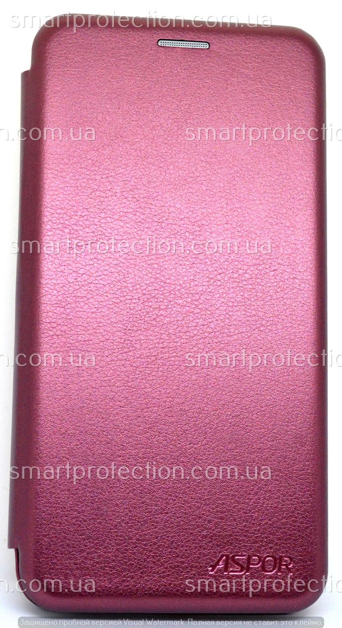 Чехол книжка для Samsung J400 J4 2018 бордовый