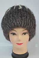 Женская зимняя шапка-кубанка мех кролика