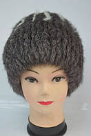Жіноча зимова шапка-кубанка хутро кролика, фото 1