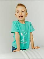 Детская футболка на хлопчика с принтом