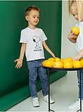 Дитяча футболка на хлопчика с принтом  (Розмір: 110, 116, 122, 128, 134, 140) Білий, фото 2