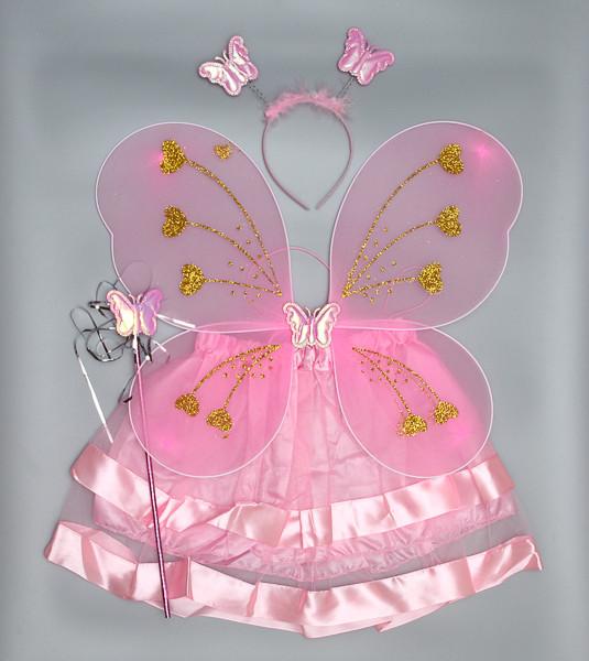 Карнавальный костюм бабочка, розовый (HLJ170419-11-1)