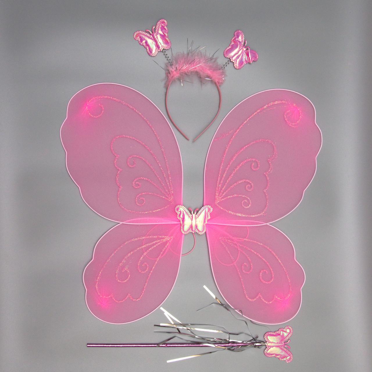 Карнавальный костюм бабочка, розовый (517250)
